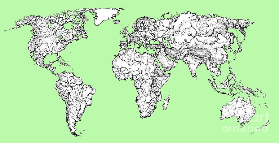 Map Of The World Drawing at GetDrawingscom Free for personal use