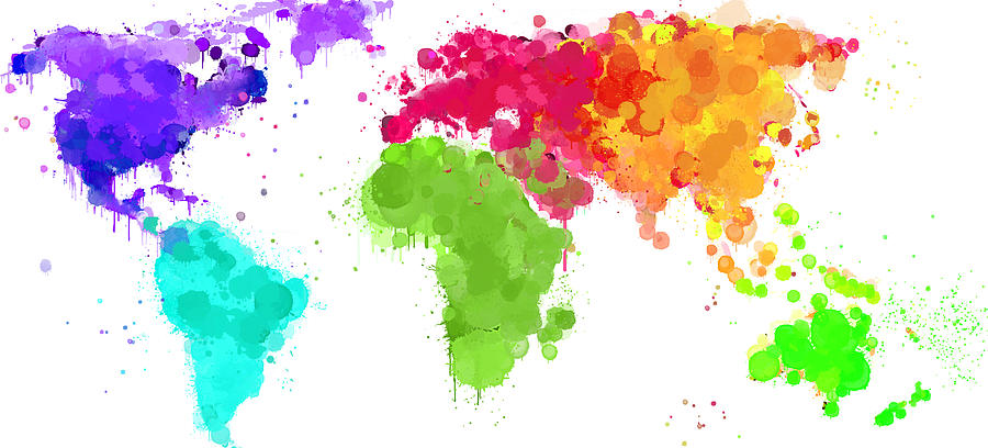 Map of the world drawing at getdrawings free for personal use 900x408 worldmap ink paint 6 colors v2 digital art by hq photo gumiabroncs Choice Image