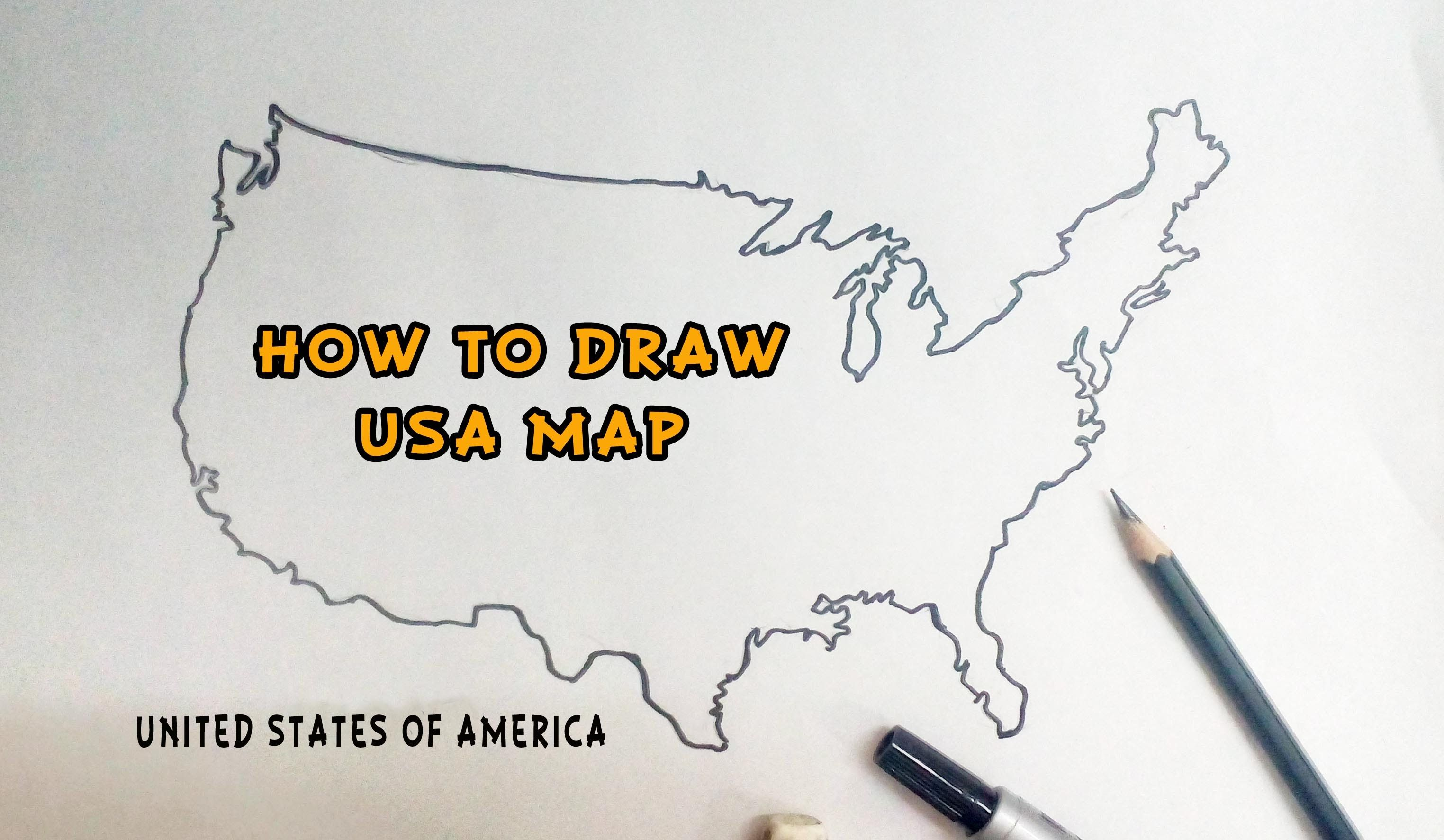 3048x1773 How To Draw United States Of America Usa Map Drawing Tutorials