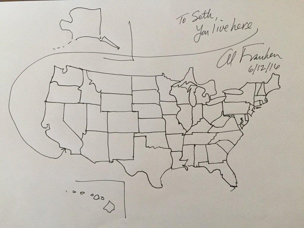 Line Art Usa Map : Map of us drawing at getdrawings free for personal use