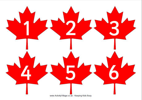 460x325 Canada Day Printables