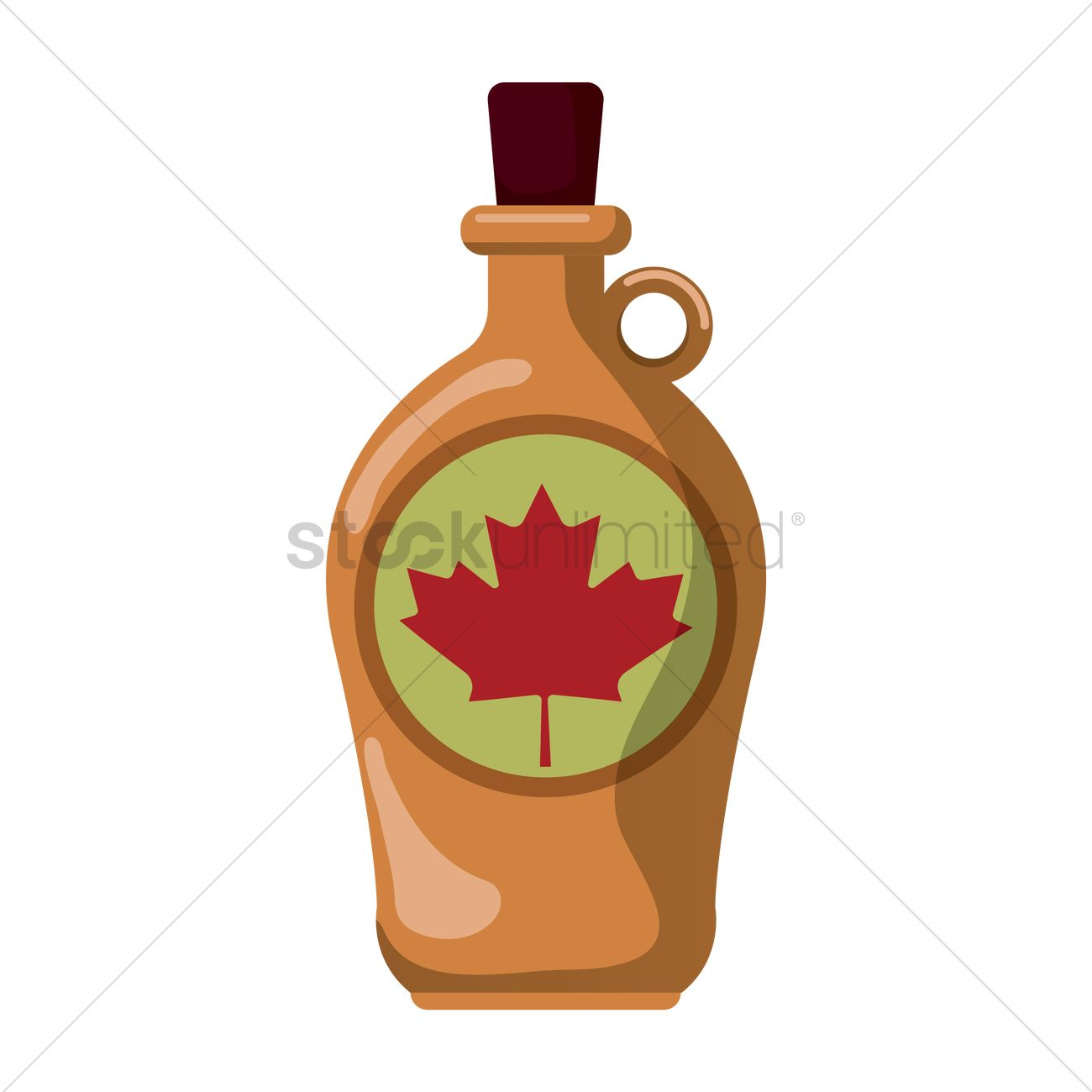 1300x1300 Bottle Of Maple Syrup Vector Image