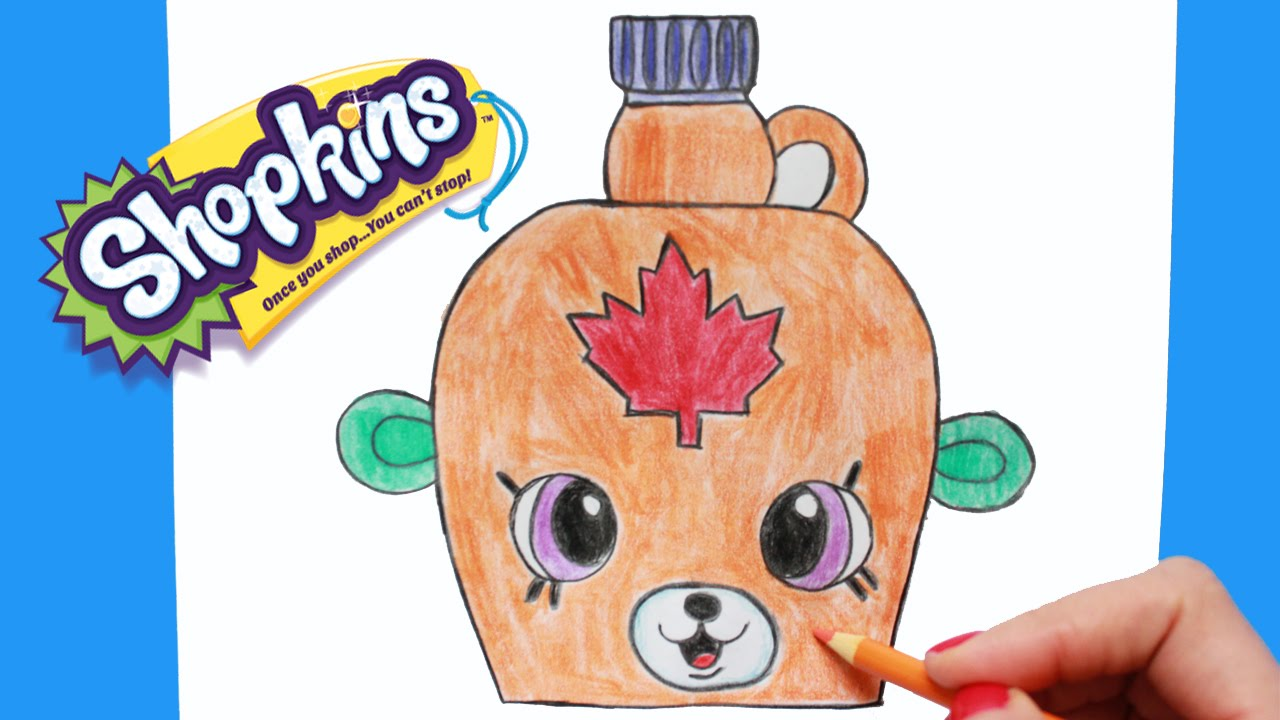 1280x720 How To Draw Shopkins Season 4 Mable Syrup Petkins Step By Step