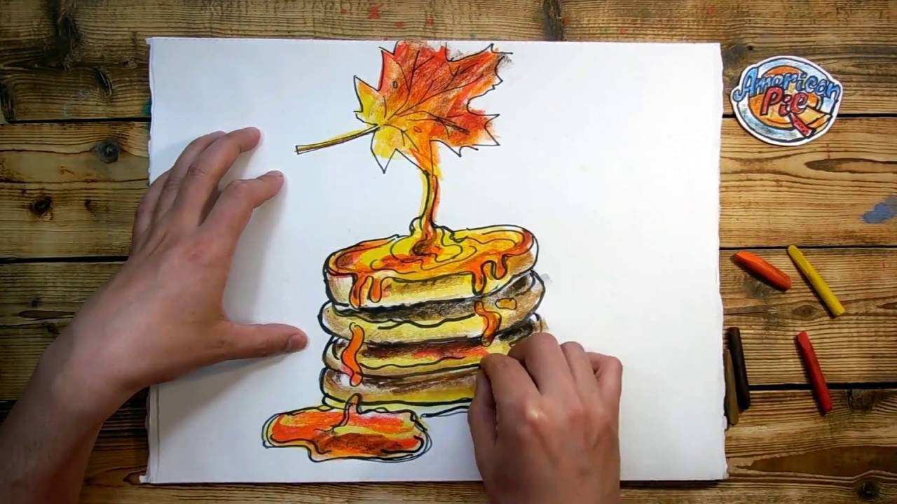 1280x720 How To Draw Pancakes With Maple Syrup