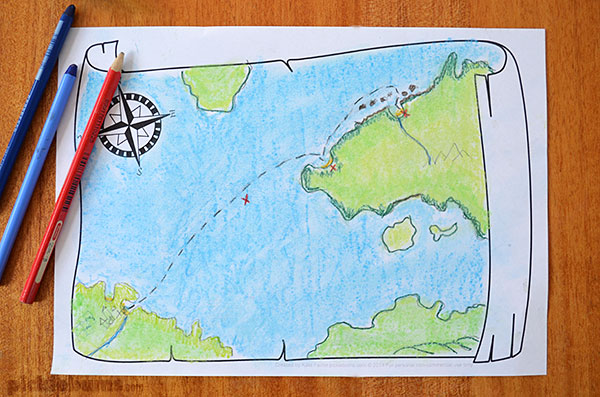 600x397 Map Drawing Prompt Free Printable.