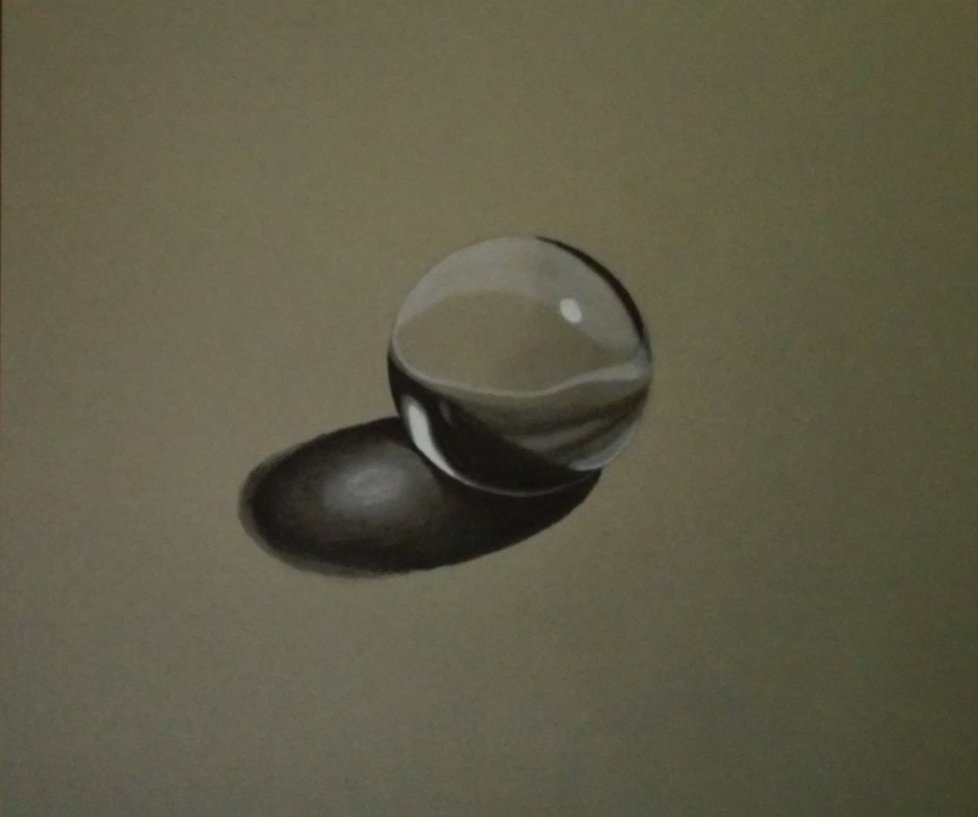 978x817 Charcoal Glass Marble Drawing By Thaixiong1