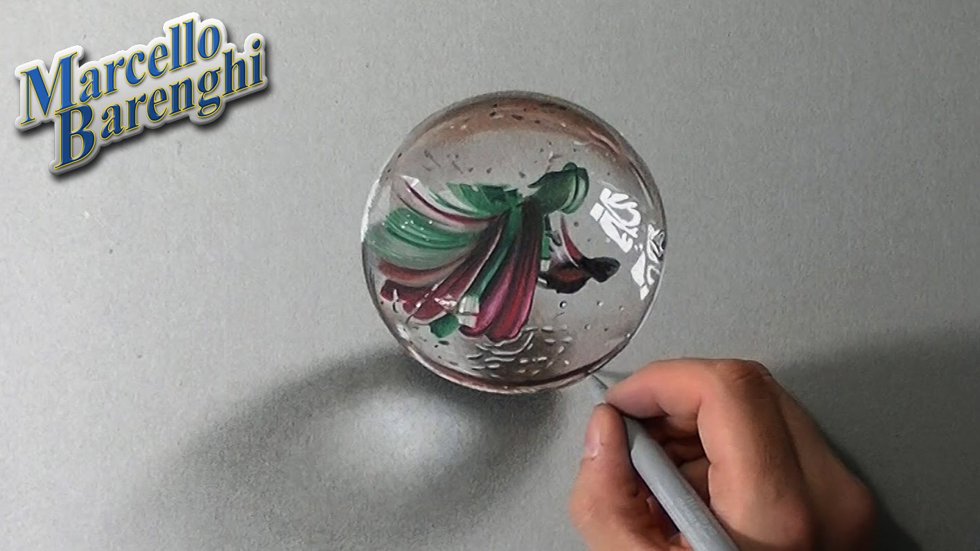 1414x795 Crazy Realistic Drawing A Marble Or Glass Ball