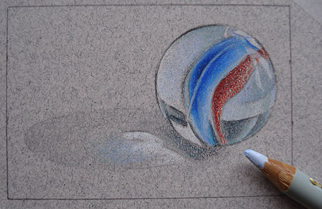 455x295 How To Draw A Marble Step By Step Realistic Drawing Art Lesson