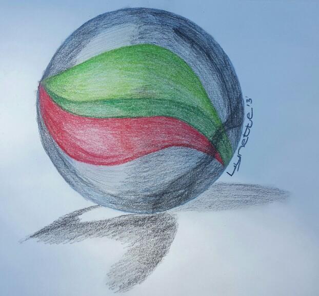 622x577 Marble Drawing Using Derwentktense Colour Pencils Art
