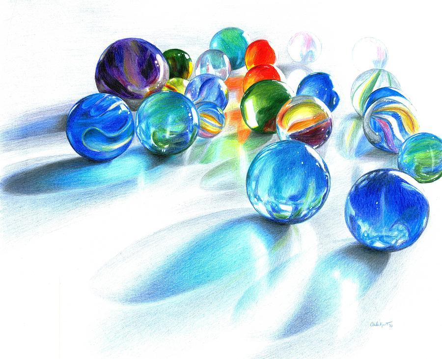 900x731 Blue Marble Reflections Drawing By Carla Kurt