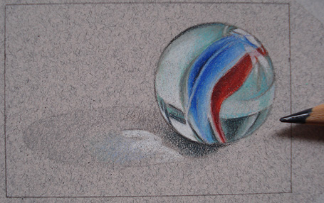 455x286 How To Draw A Marble Step By Step Realistic Drawing Art Lesson