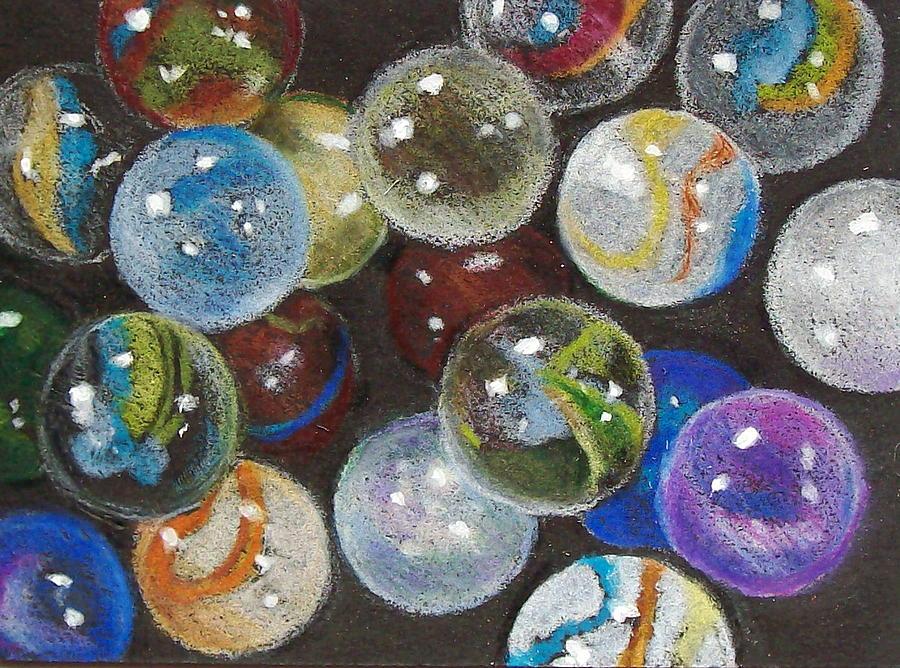 900x668 Many Marbles Drawing By Joyce Geleynse