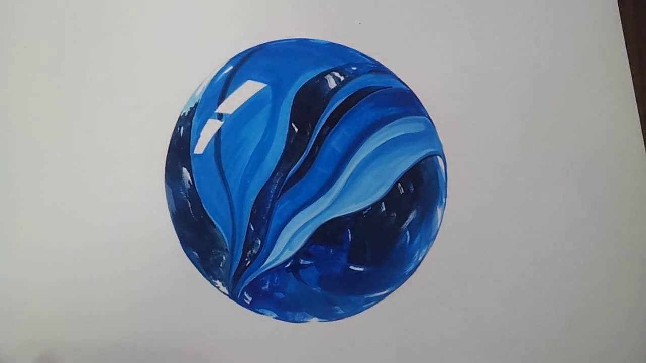 1280x720 Glass Marbles Drawing,painting