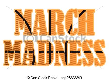 450x331 March Madness Text Filled With A Basketball Pattern. Eps Vector