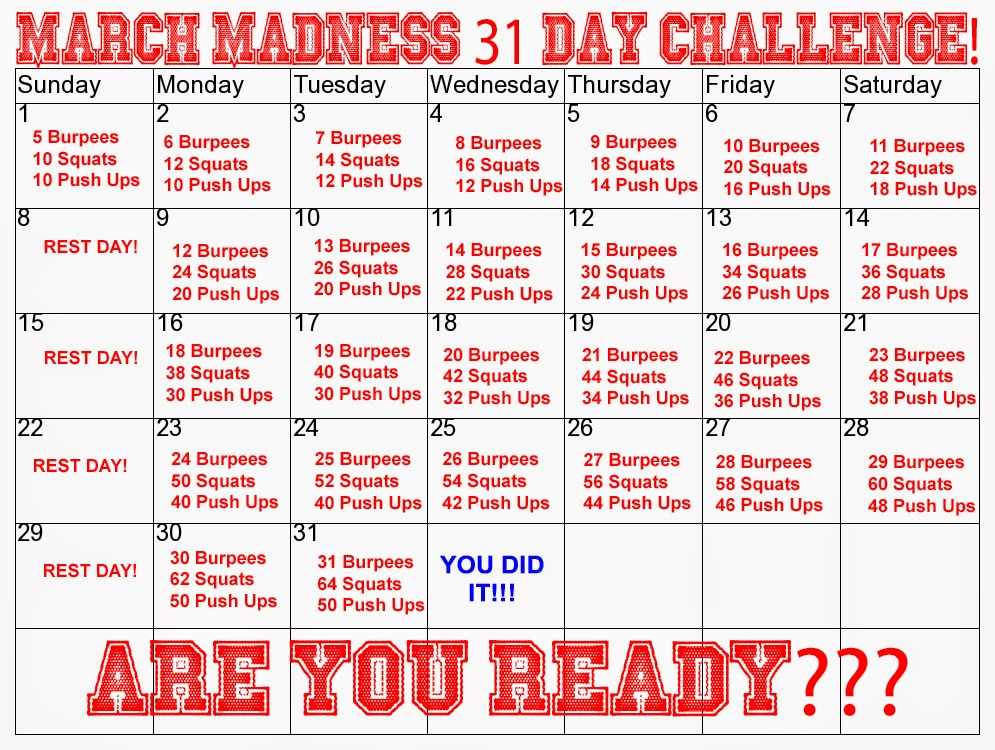 995x750 Train With Shawn March Madness 31 Day Challenge!