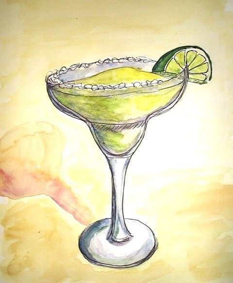 480x583 Template For Margarita Drawing