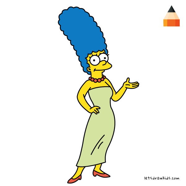 600x600 How To Draw Marge Simpson