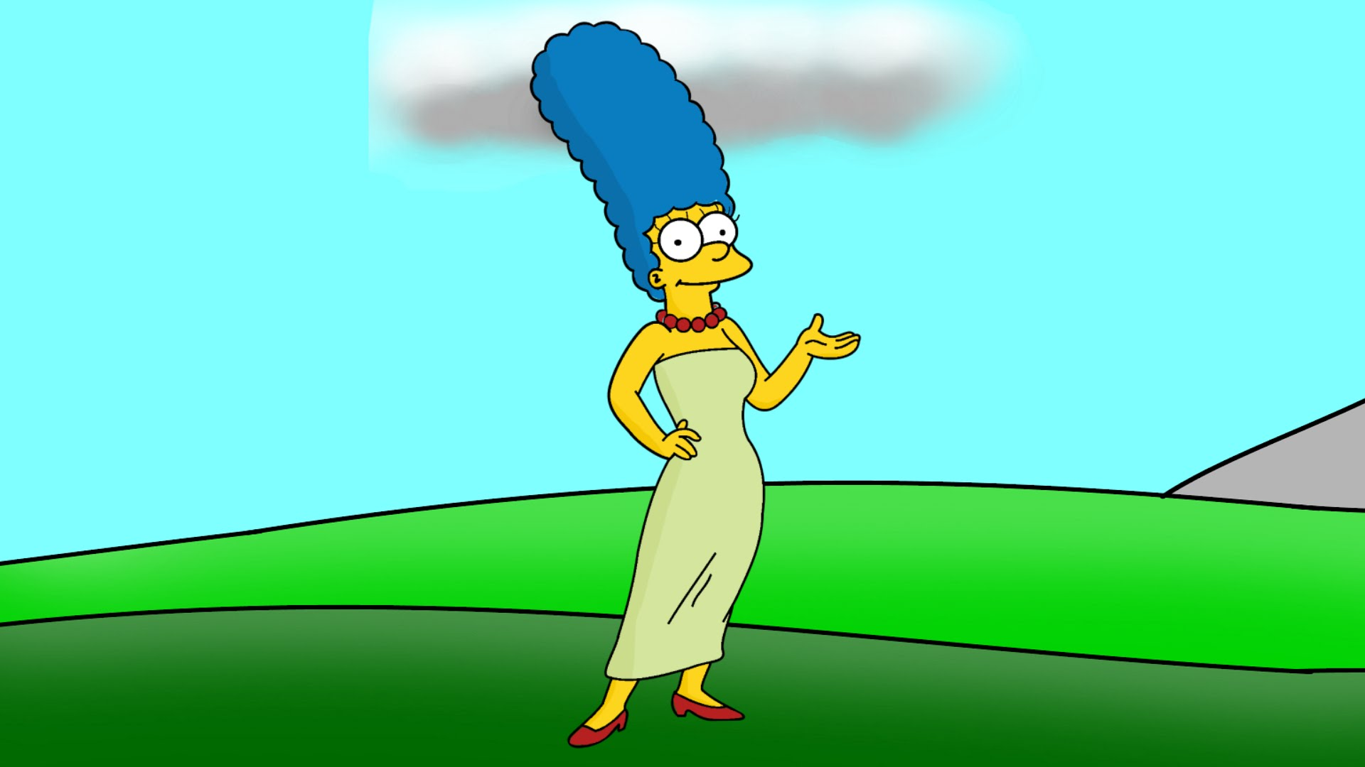 1920x1080 How To Draw Marge Simpson Step By Step