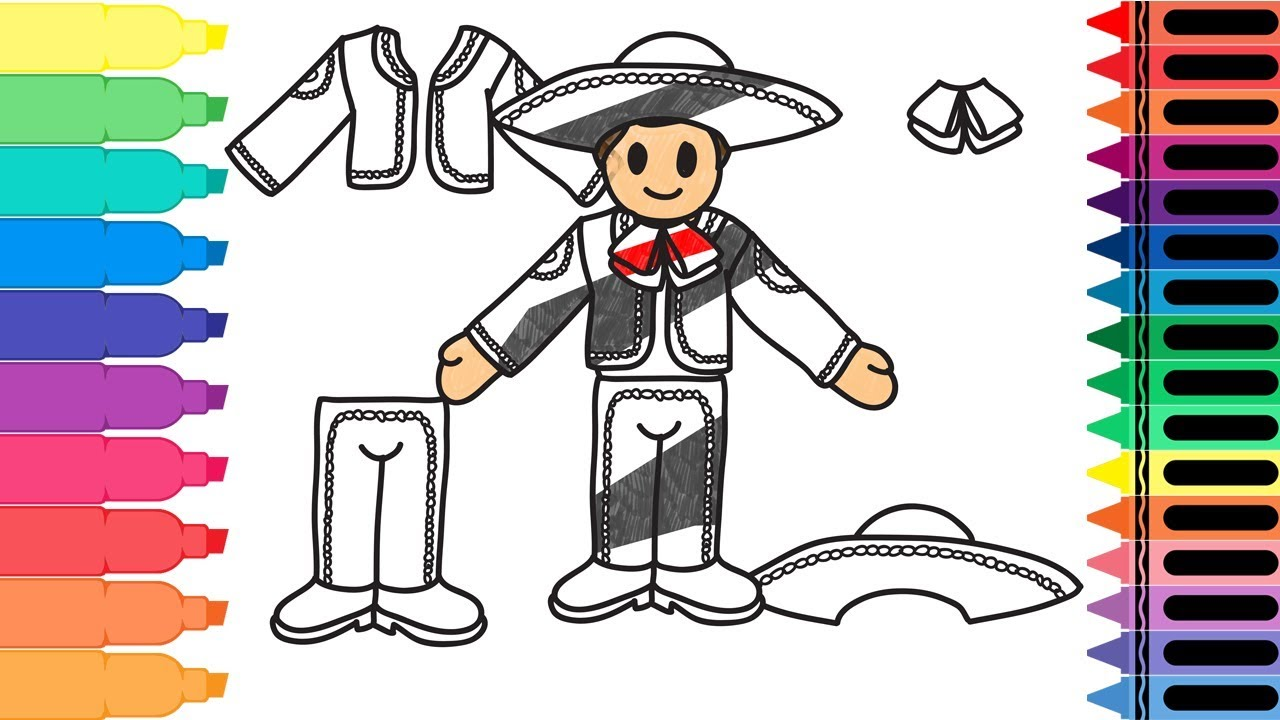 1280x720 How To Draw Mexico Mariachi