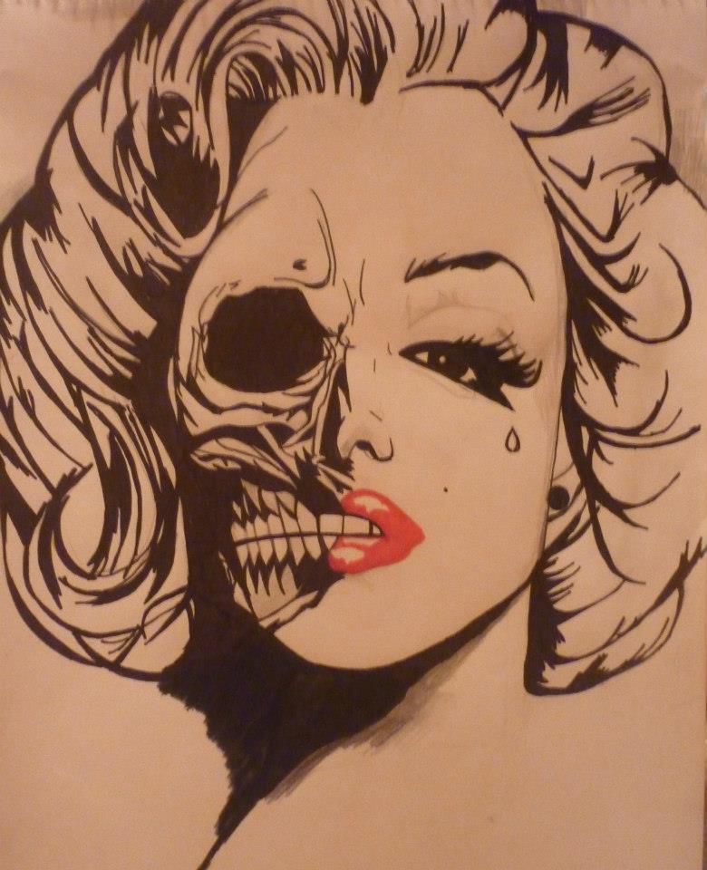 780x960 Marilyn Monroe Skull 3 By Aracelyhallenpoe