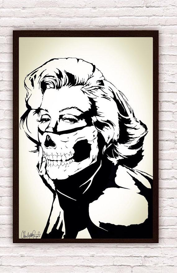 570x878 Marilyn Monroe Skull Bandana Balaclava Boho Decor