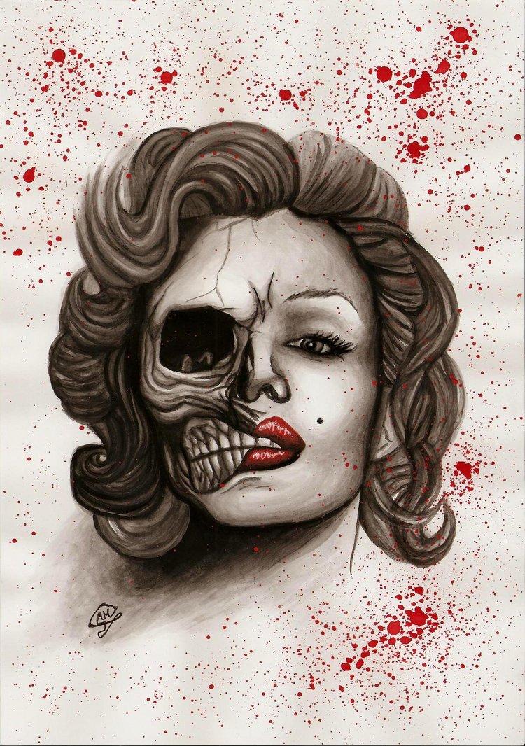 750x1066 Marilyn Monroe By Xblack Outx