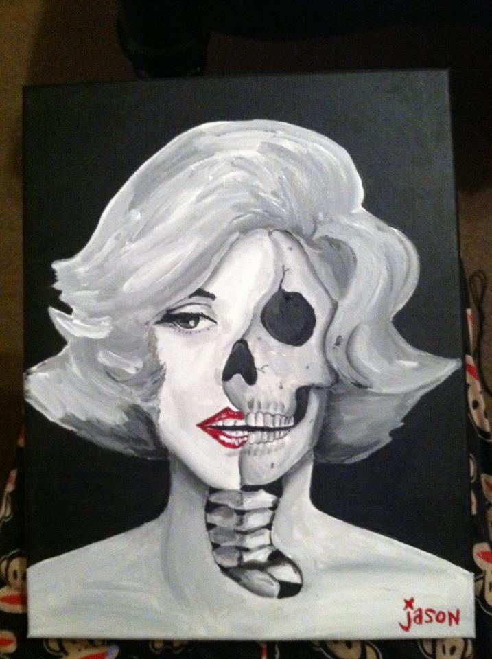 717x960 Marilyn Monroe Half Face By Evilmastermindmrj