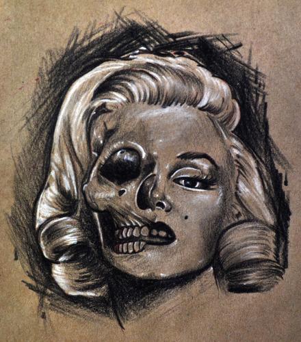 440x500 Marilyn Monroe Skull Draw
