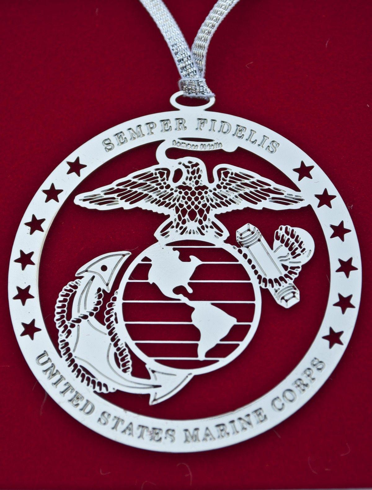 1200x1581 Eagle, Globe, Amp Anchor Silver Ornament Sgt Grit