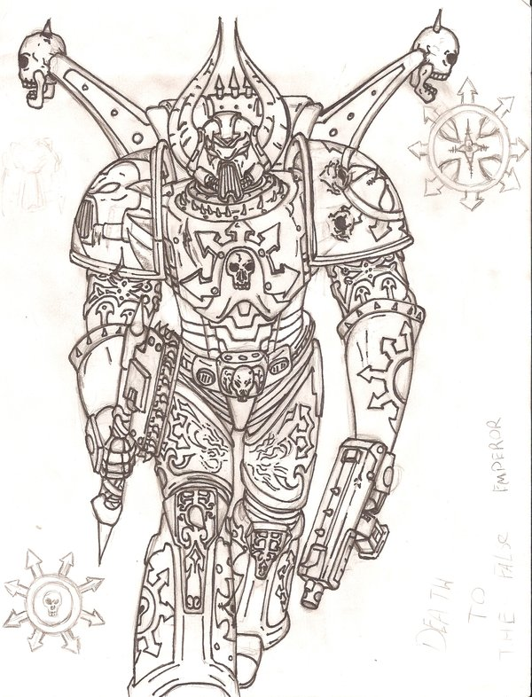 600x786 Chaos Space Marine Design By Evill33tchaos
