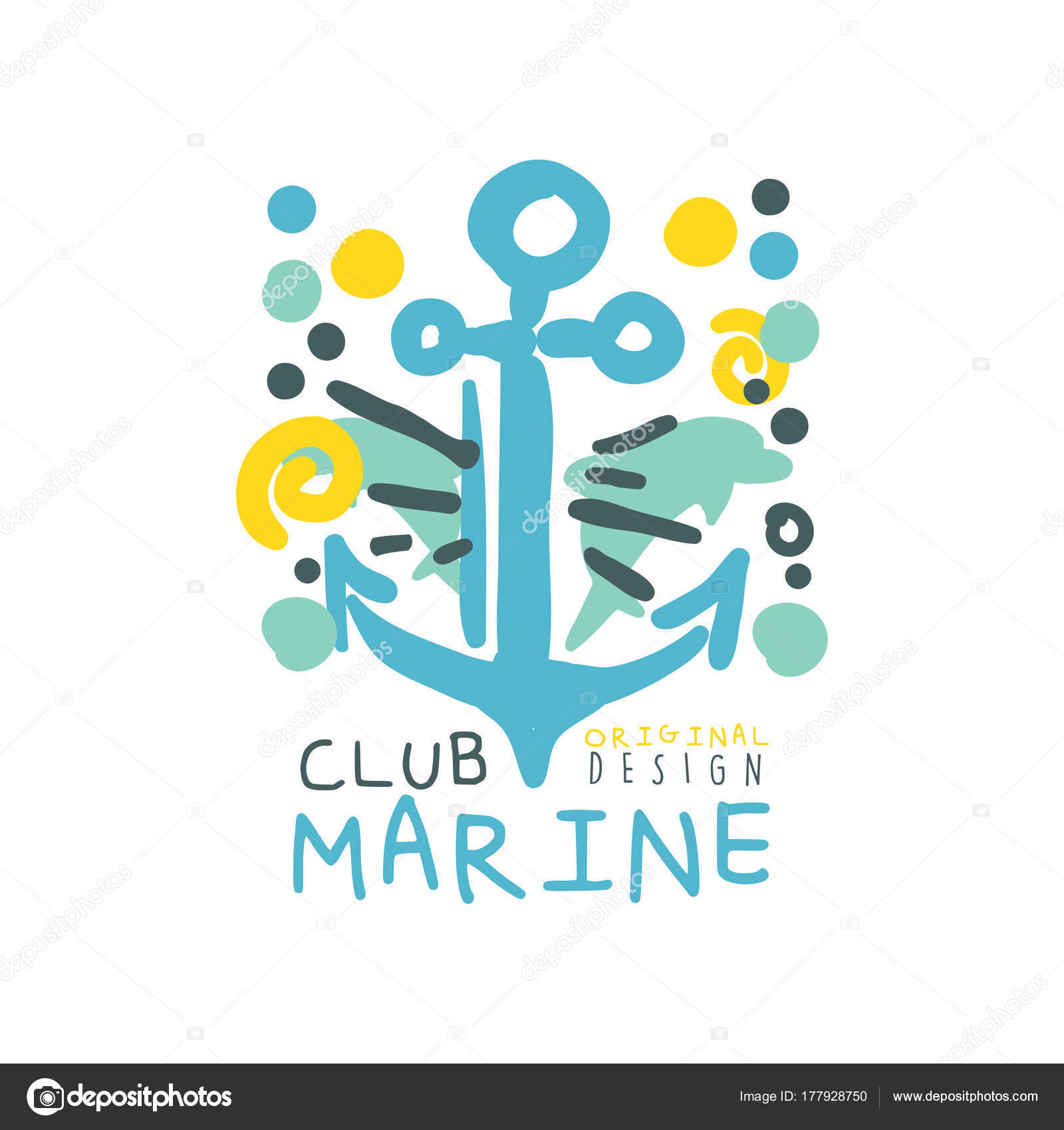 1600x1700 Blue And Yellow Creative Marine Theme Illustration With Hand Drawn