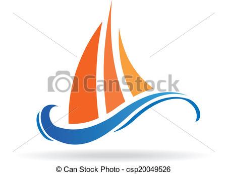 450x346 Marine Boat Waves Image Logo. Marine Boat Waves Image . Vector