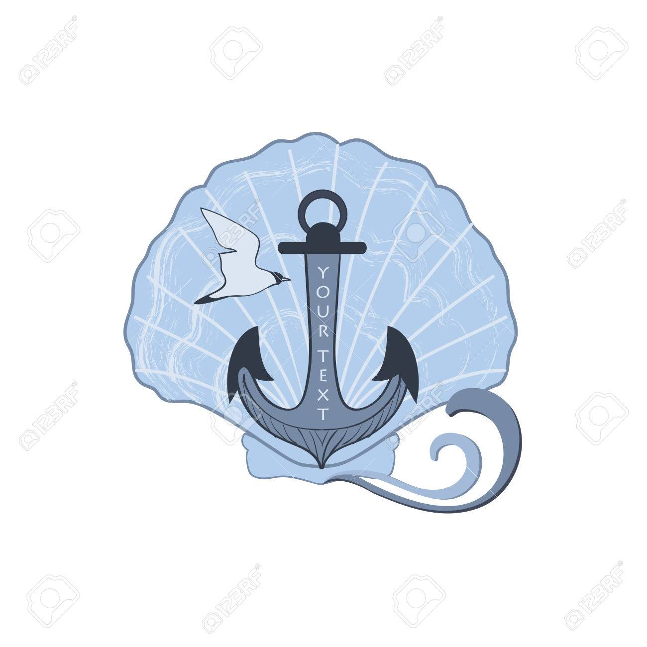 1300x1300 Sticker Labels Marine Theme Hand Drawing Royalty Free Cliparts