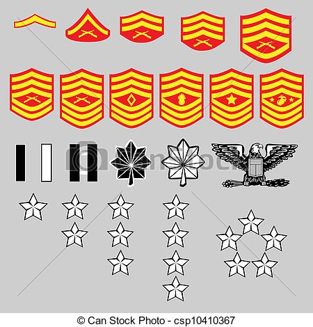 450x470 Us Marine Corps Rank Insignia For Officers And Enlisted In Clip