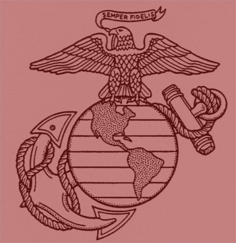 486x500 Usmc Insignia Rubber Stamp, Marine Corps, Eagle Globe And Anchor