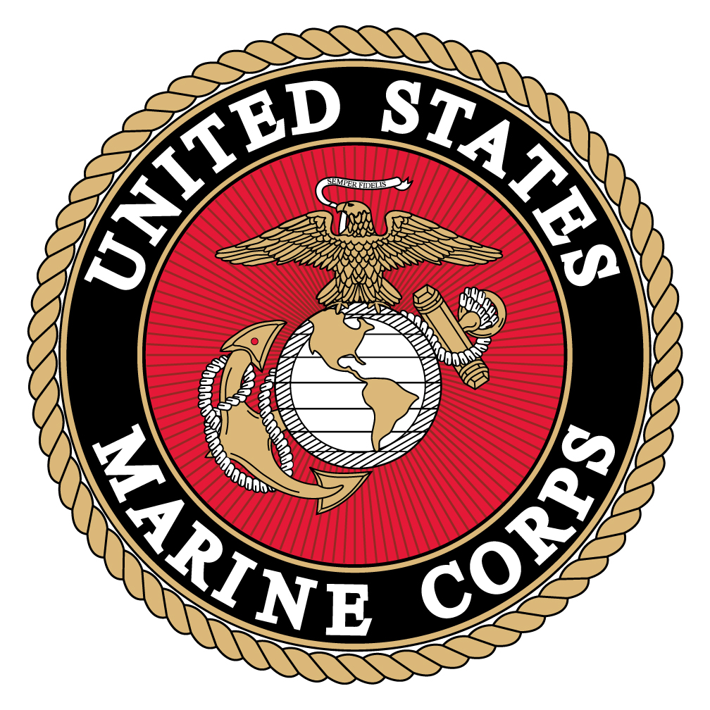 1008x1008 United States Marine Corps Spare Tire Cover With Logo