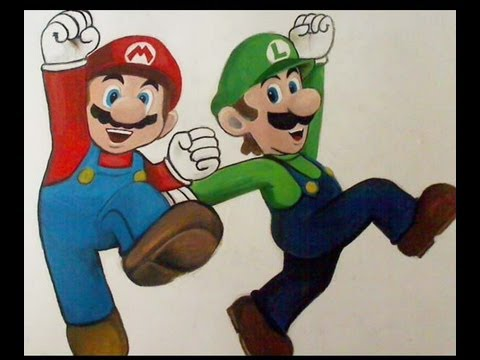 480x360 How To Drawpaint Mario And Luigi
