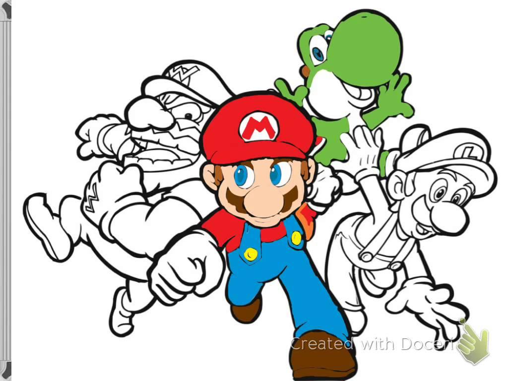 1024x768 Mario And Luigi Drawing Mario Yoshi Luigi And Warrior Speed
