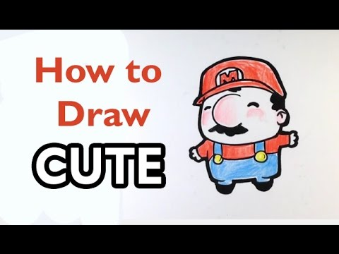 480x360 How To Draw Mario(Cute)