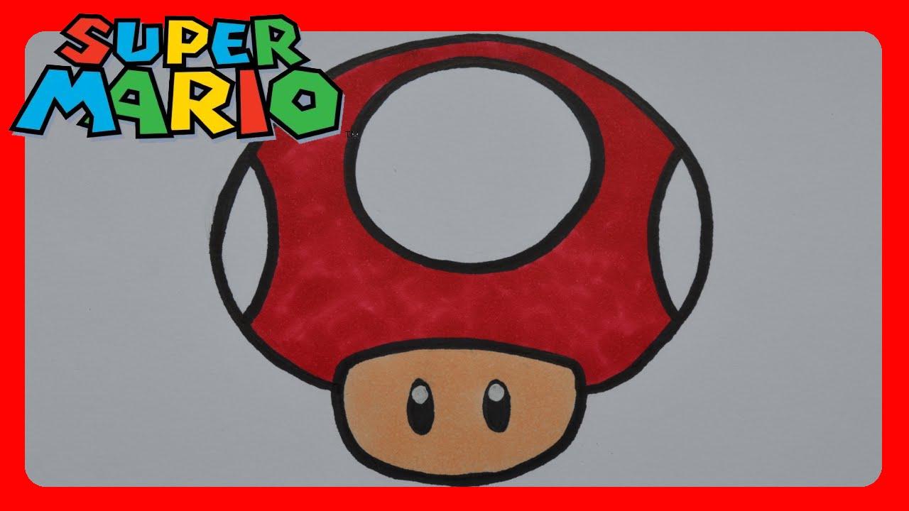 1280x720 How To Draw Super Mario Bros. Mushroom