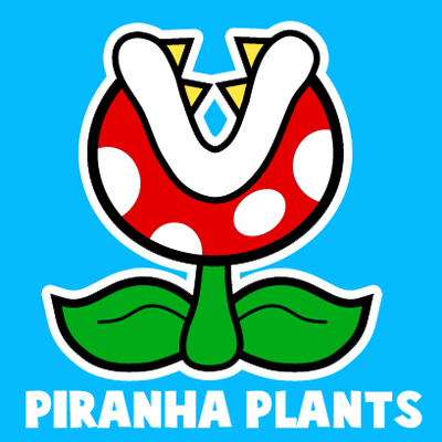 400x400 How To Draw A Pirahna Plant From Paper Mario With Easy Step By