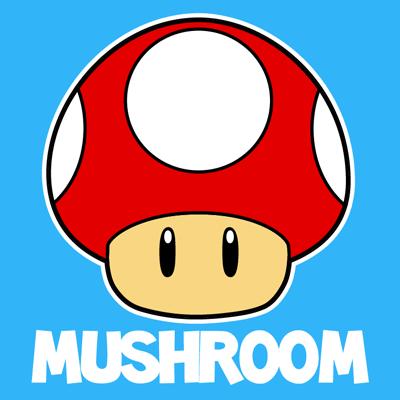 400x400 How To Draw The Mushroom From Nintendo's Super Mario Bros