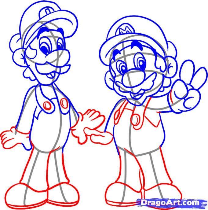 681x687 How To Draw Mario Bros Simple Mario Bros, Drawings