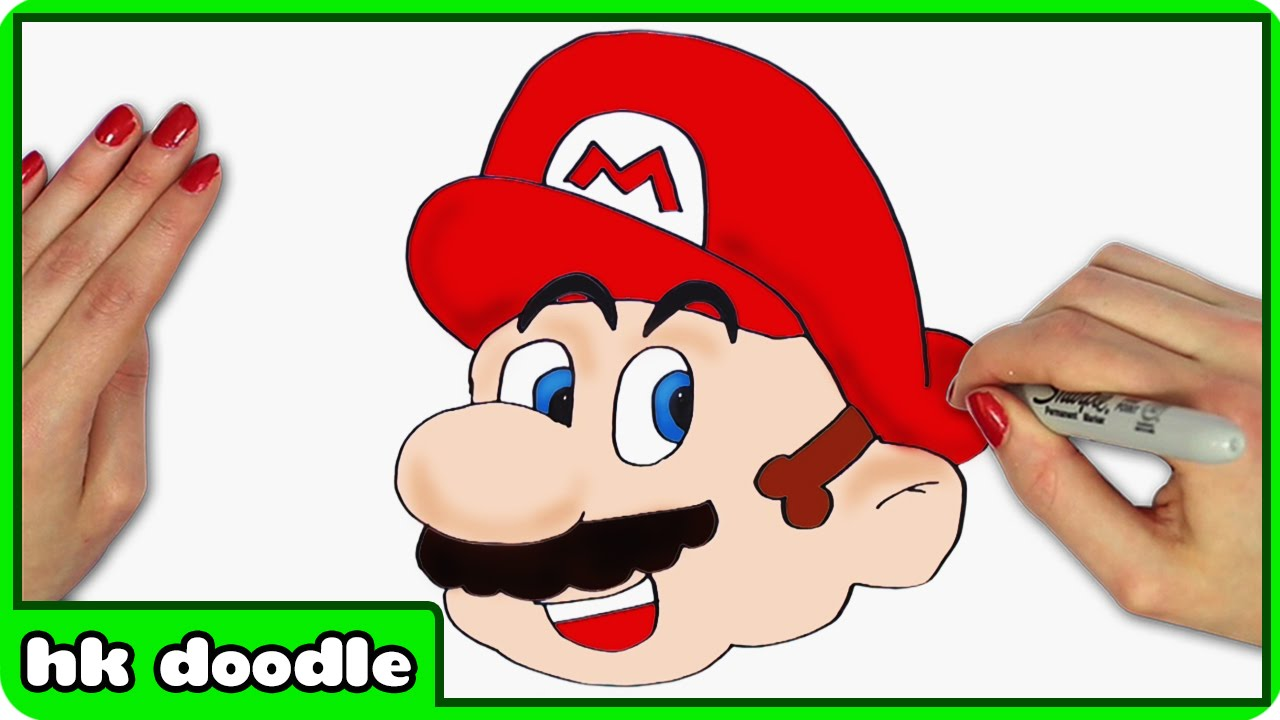 1280x720 How To Draw Mario From Super Mario Bros