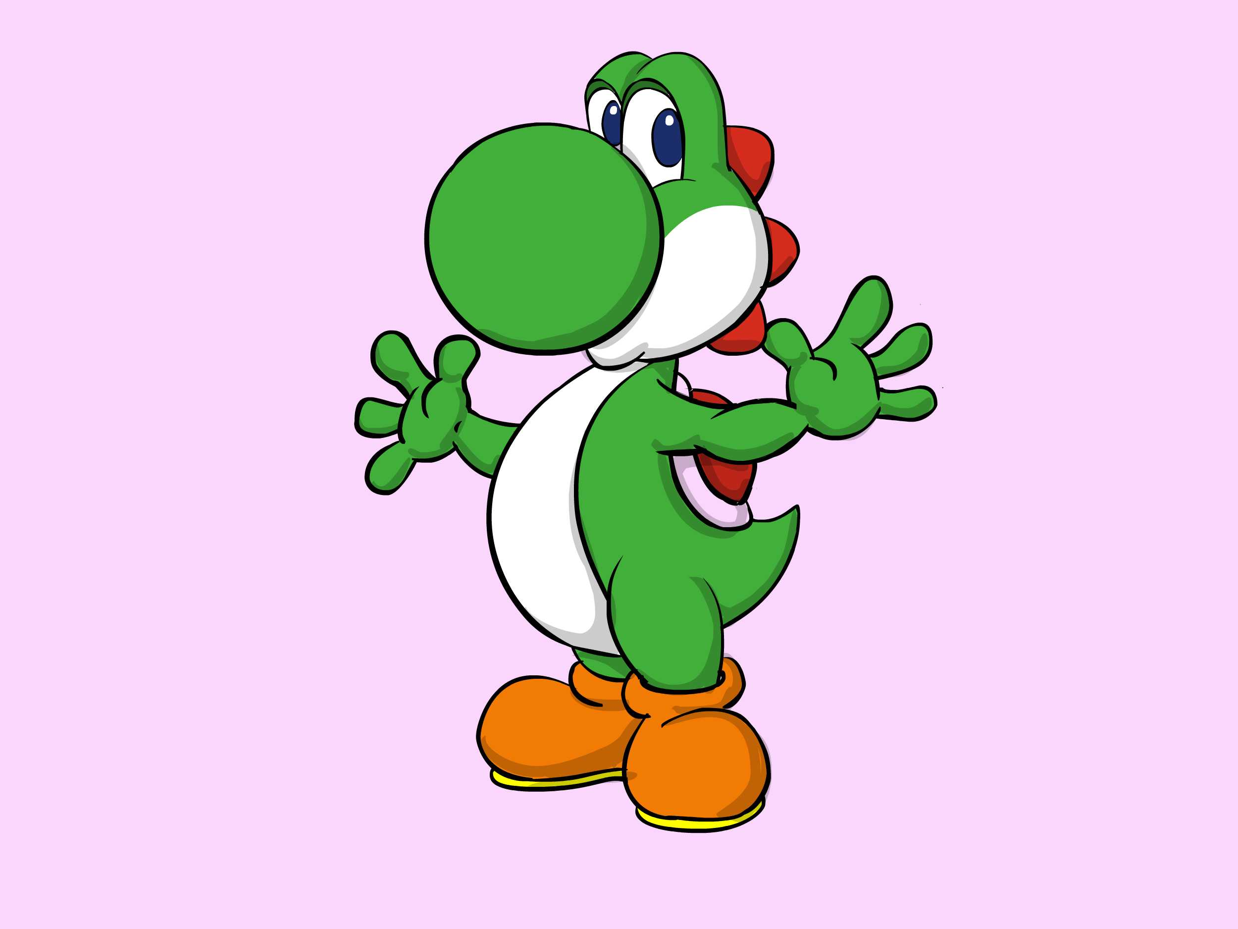 2500x1875 How To Draw Yoshi From Mario (With Pictures)