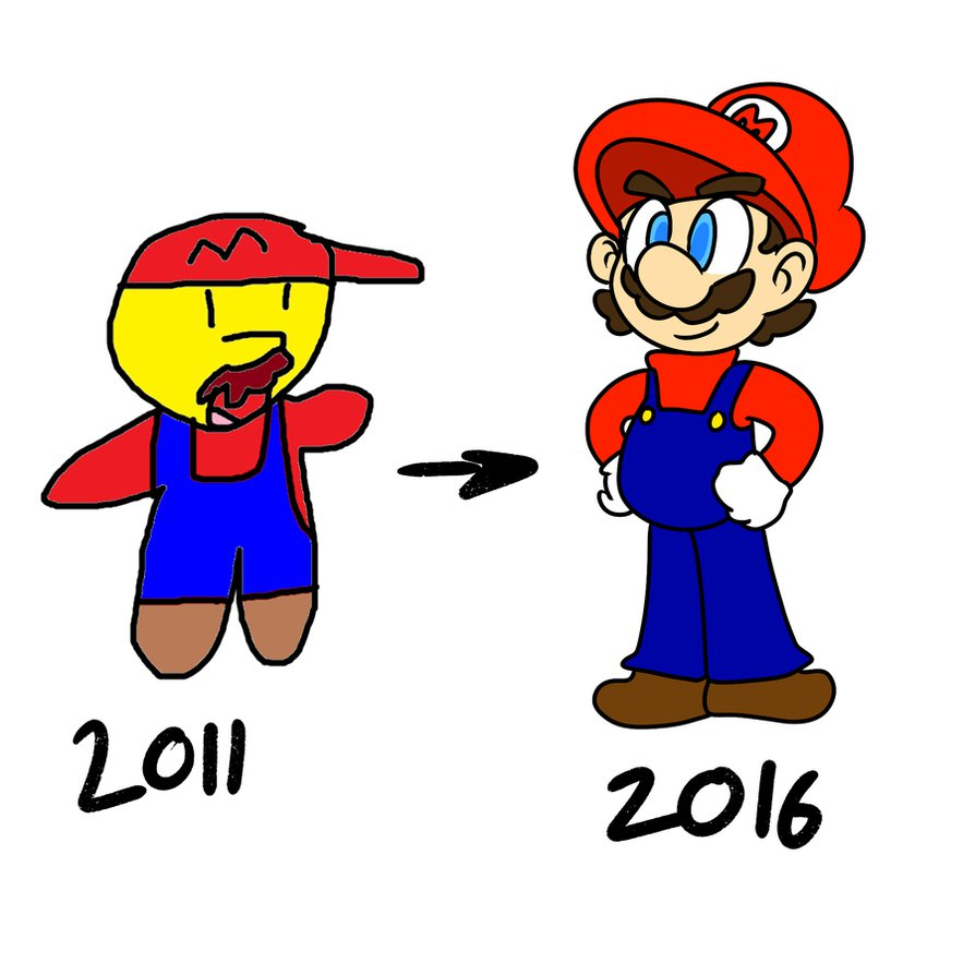 894x894 Mario Drawing Improvment By Omni Sphere