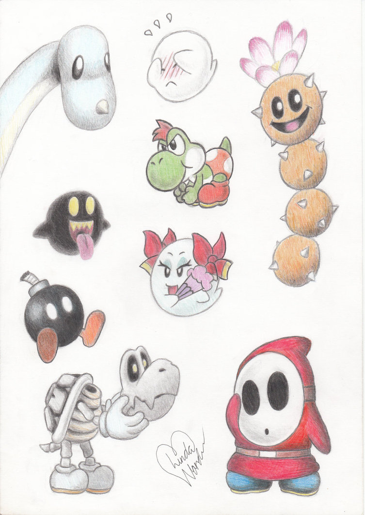 753x1062 Cute Mario Characters By Marindashy
