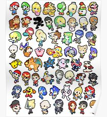 210x230 Mario Characters Drawing Posters Redbubble