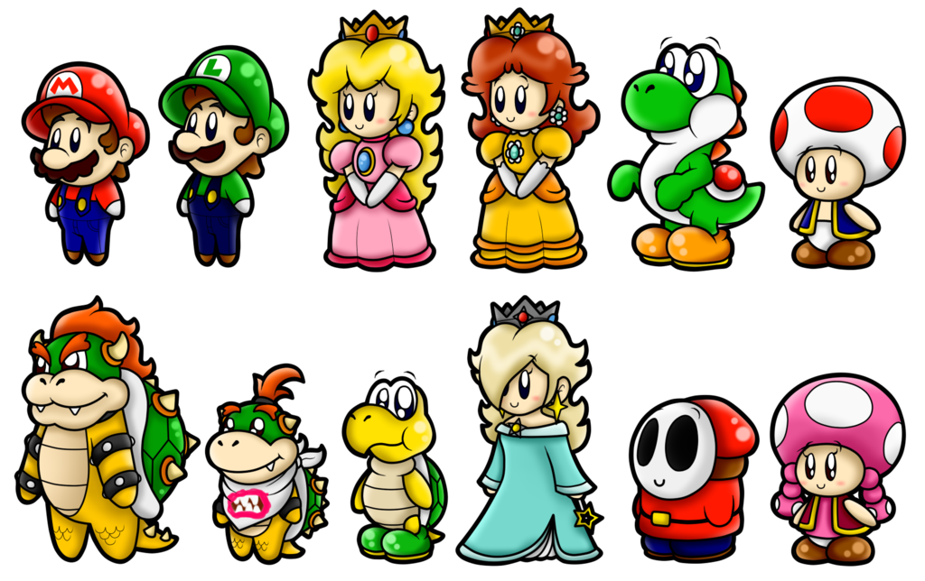 1024x644 Super Mario Cute Characters 1 By Superlakitu