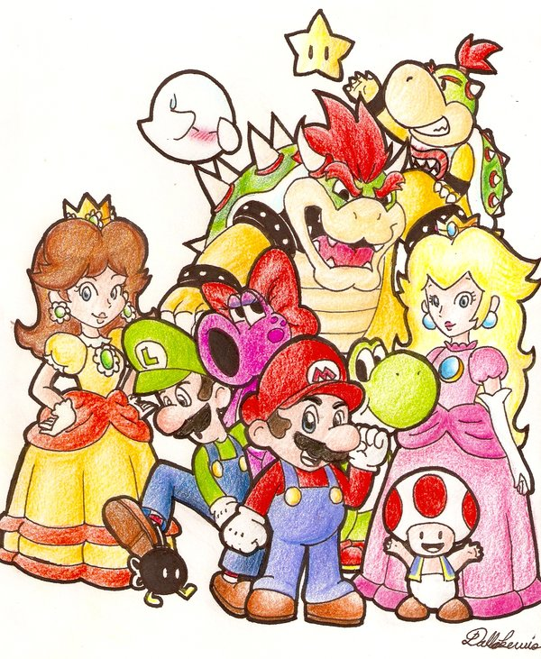 600x731 Mario Characters By Dalliz